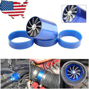 Car Air Intaketurbine Fan Eengine Turbo Supercharger Enhance Power Save Gas Fuel