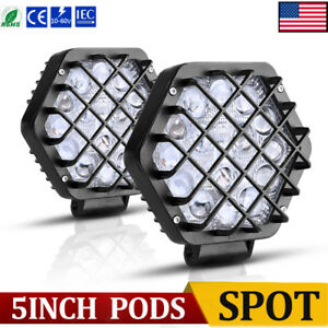 2x 7inch 51w Offroad Led Work Light Pods 4x4 Ute Jeep Truck Bumper Reverse Spot