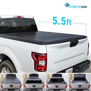 Aluminum Hard Tri Fold Tonneau Cover For 2004 2018 Ford F 150 5 5ft Truck Bed