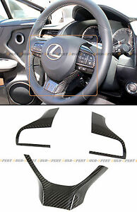 For 2016 2018 Lexus Gs Rx Es Carbon Fiber Steering Wheel Add On Trim Cover Kit