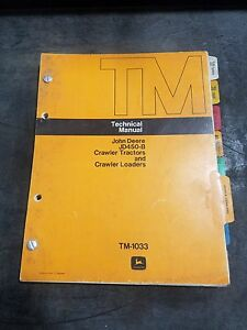 John Deere Jd450 b Crawler Loader Parts Catalog Oem Tm1033