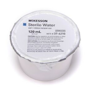 New Mckesson Irrigation Solution Sterile Water Foil lidded Cup 120 Ml 48 case