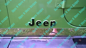 Replacment Letter Decal For A Jeep Cj Yj Wrangler Sticker 1976 1995 2 Decals