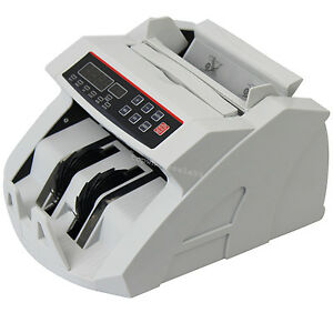 Money Currency Counter Counting Machine Counterfeit Detector Uv Mg Ce