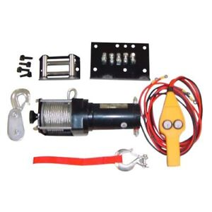 3500lb Winch Set With Handle Control For Atv Tractor Jeep