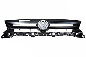 12 17 Vw Volkswagen Tiguan Satin Black With Chrome Front Radiator Grille Grill