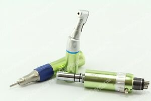 Dental Low Speed Contra Angle Colorful Handpiece Complete Kit 4 hole Ce