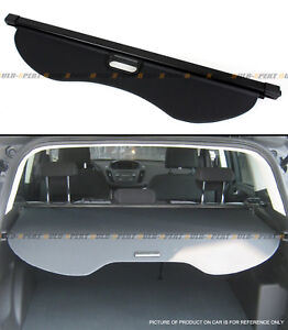 For 2013 2018 Ford Escape Rear Trunk Retractable Cargo Cover Luggage Shade Black