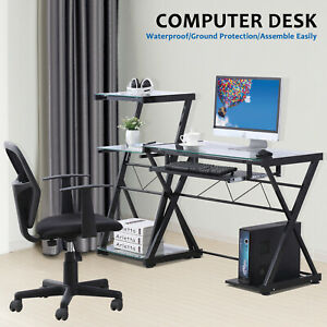 Computer Desk Corner Pc Laptop Table Student Workstation Office Home Furniture