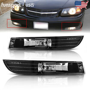 For 2000 2005 Chevy Impala Clear Lens Front Bumper Driving Fog Lights Lamps L r