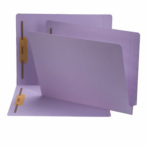 Smead End Tab Colored File Folders With Fasteners Smd25540