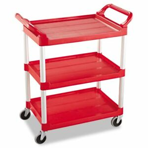 Rubbermaid Commercial Service Cart Rcp342488red