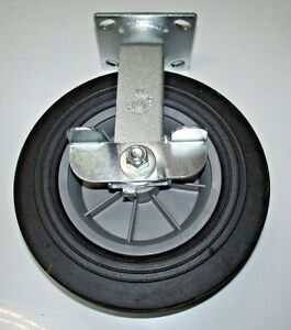 Durable Usa 10 Solid Wheel Casters W Cam lock Grease Fittings 1000 Lb
