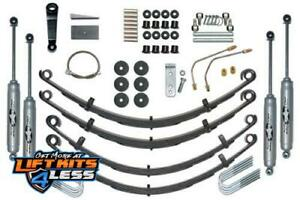 Rubicon Re5515 4 0 Leaf Spring Lift Kit With Twin Tube Shocks For 87 95 Jeep Yj