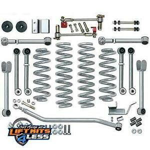 Rubicon Express 4 5 Inch Super S Arm Lift Kit 97 06 Jeep Wrangler Tj Re7000
