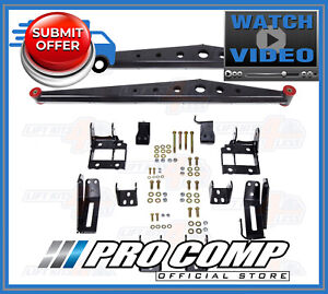 Pro Comp Lateral Traction Bars Mount Kit For 2011 2016 Ford F 250 f 350 4wd