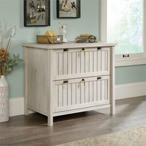 Sauder Costa Lateral File Cabinet In Chalked Chestnut