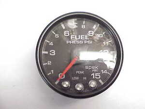 Used Fuel Pressure Gauge Pro Parts Spek Black 2 1 16 0 15 Psi Jh13 Nascar