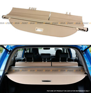 For 2013 18 Toyota Rav4 Retractable Trunk Cargo Space Cover Luggage Shield beige