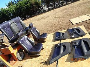 Mercedes Benz W210 E55 Amg 2 Tone Blue Leather Heated Seat E430 E320 E420 E300