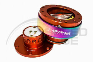 Nrg Steering Wheel Gen 2 0 Quick Release Orange Body Neo Chrome Ring 200or mc