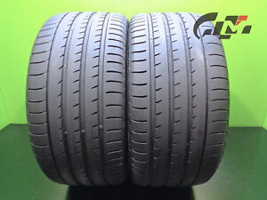 2 High Tread Yokohama Tires 295 35 21 Advan Sport 107y Oem Porsche N2 42614