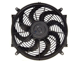 14 Inch Electric Fan Kit Oil Cooler Radiator Automotive Universal Slim Cooling