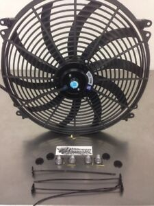 16 Inch Push Pull Electric Cooling Radiator Fan Reversible 3000cfm