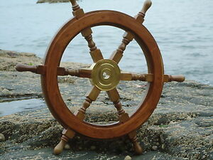 Large Ships Wheel 24 Inches Across Nautical Maritime Nice Size Home Decor Gift