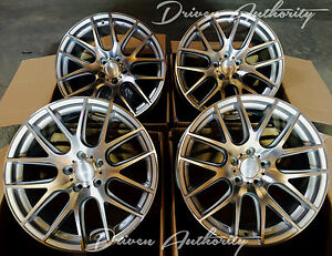 19 X 10 5 Miro 111 Silver Concave Wheels Ford Mustang 2005 2014 Gt 6 8 Rims