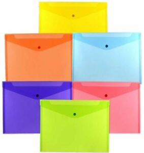 Jam Paper Letter Size 9 3 4 X 13 X 1 Plastic Envelope Folders With Snap