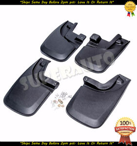 For 2005 2015 Toyota Tacoma 4pcs Mud Flaps Guards Splash Rear Front No Drilling