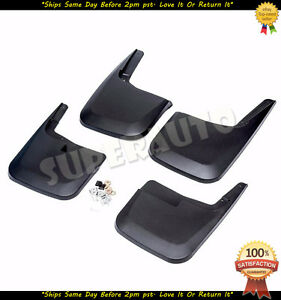 For 2015 2017 Ford F 150 Mud Guards Mud Flaps Front Rear No Drill Splash Guards