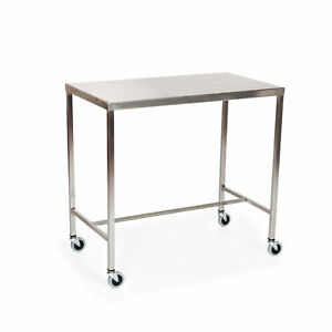 Stainless Steel Instrument Table With H brace 36 l X 24 w X 34 h 1 Ea