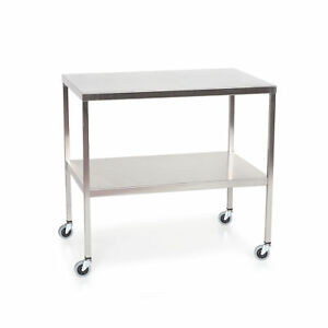 Stainless Steel Instrument Table With Shelf 72 l X 24 w X 34 h 1 Ea