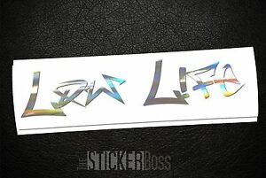 Low Life Car Decal Sticker Rufa For Jdm Kdm Euro Style Pick Size And Color
