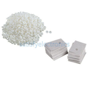 100pcs White Transistor Plastic Washer Insulation Washer Pads Silicone To 220