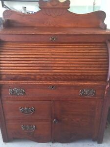 Vintage Roll Top Desk East Lake Very Good Condition Oak 40w 48h