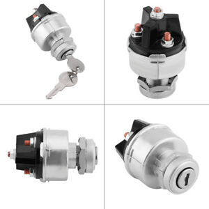 Universal Ignition Switch Assembly With 2 Keys For Car Truck Trailer Metal
