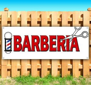 Barberia Spanish Barber Advertising Vinyl Banner Flag Sign Many Sizes Available