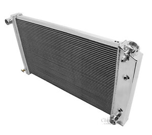 1980 1986 Chevy Caprice 3 Row Champion Cooling Aluminum Radiator