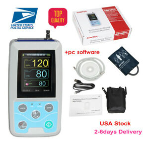 Contec Ambulatory Blood Pressure Monitor software 24h Nibp Holter Abpm50 usa