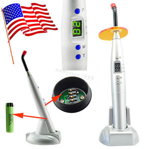 Silver Dentist Dental Led Curing Light Lamp 5w Wireless Cordless 1500mw Cl2 Usa