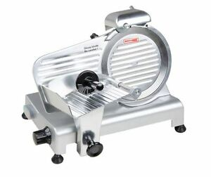 Electric Commercial Deli Cater Blade 9 Manual Gravity Feed Meat Slicer 1 4 Hp