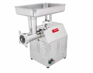 Commercial Duty Restaurant Butcher Stainless Food Meat Sausage 12 Grinder 1 Hp