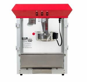 New Commercial Popcorn Popper Countertop Stainless Red Machine Maker 8 Oz 850w