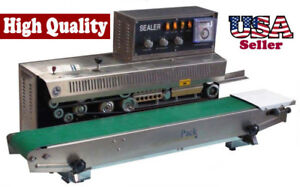 Table Top Stainless Steel Horizontal Band Sealer Coding Printe Continuous Seal