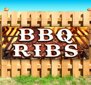 Bbq Ribs Advertising Vinyl Banner Flag Sign Many Sizes Fair Carnival Food