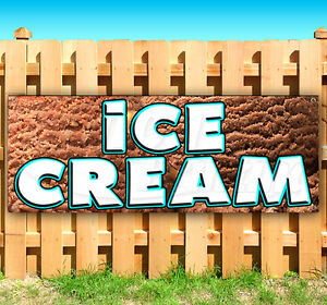 Ice Cream Advertising Vinyl Banner Flag Sign Many Sizes Fair Carnival Food