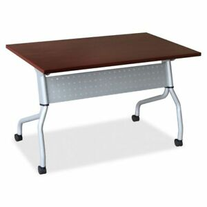 Lorell Mahogany Flip Top Training Table Llr60722